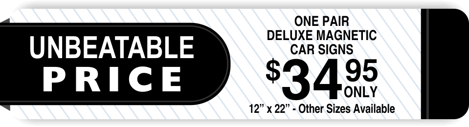 magnetic car signs coupon